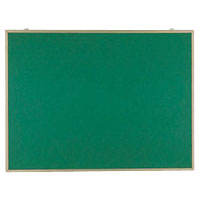 【まとめ買い10個セット品】 掲示板 壁掛用 ベルフォーム貼・アルミ枠 グリーン CR-BK34-G