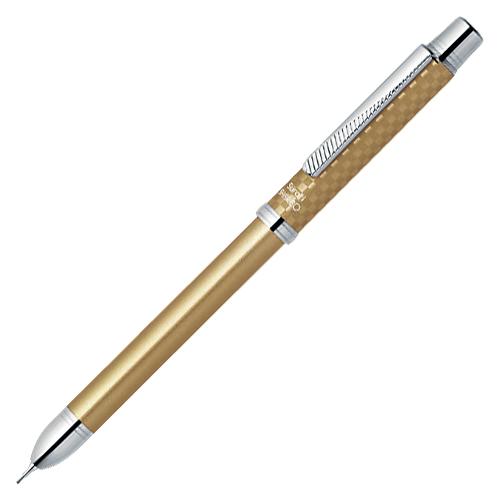 【まとめ買い10個セット品】スラリシャーボ2000 2色ボールペン0.7(黒・赤)+シャープ0.5 SB27-CGO シャンパンゴールド 1本 ゼブラ