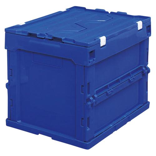 【まとめ買い10個セット品】ハード折りたたみコンテナフタ一体型 ブルー HDOH-20L ブルー 1個 アイリスオーヤマ