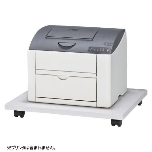 【まとめ買い10個セット品】 レーザープリンタ台  CR-PU75-W ホワイトグレー