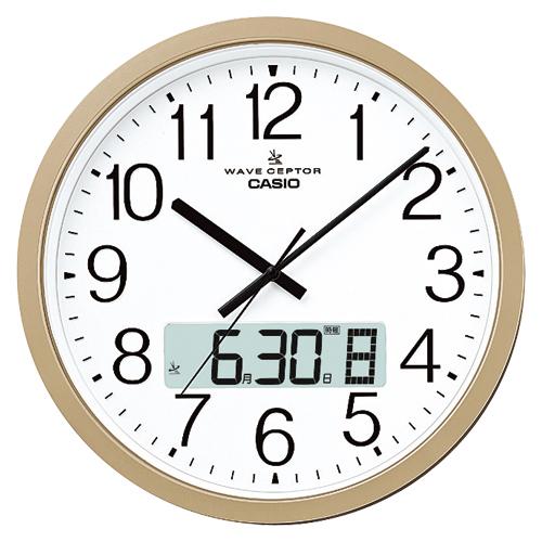 掛時計 (電波時計) IC-4100J-9JF 1個 カシオ 【オフィスアクセサリー 掛時計 カシオ casio 電波掛時計 IC4100J9JF シャンパンGD 851376】【メーカー直送/代金引換決済不可】