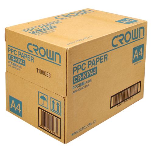 【まとめ買い10個セット品】PPC用紙 CR-KPA4-W 500枚×5冊 クラウン【 PC関連用品 OA用紙 コピー用紙 】
