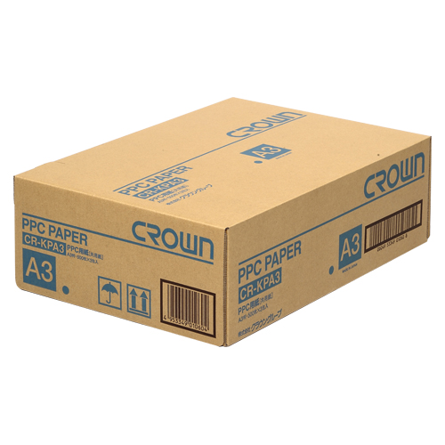 【まとめ買い10個セット品】PPC用紙 CR-KPA3-W 500枚×3冊 クラウン【 PC関連用品 OA用紙 コピー用紙 】