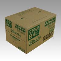 【まとめ買い10個セット品】再生PPC用紙 CR-KPB4R-N 500枚×5冊 クラウン【 PC関連用品 OA用紙 コピー用紙 】