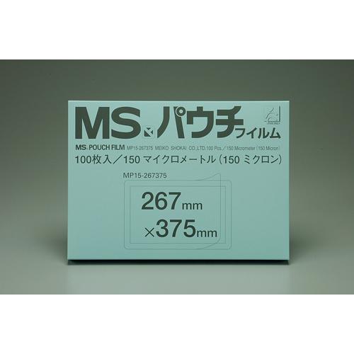 【まとめ買い10個セット品】MSパウチフィルム MP15-267375 100枚 明光商会【 オフィス機器 ラミネーター パウチフィルム 】