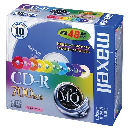 まとめ買い10個セット品PC DATA用 CD-R パソコンデータ用1回記録タイプ CD-R 2-48倍速対応CDR7EDHW9I2