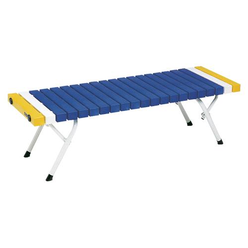 【まとめ買い10個セット品】 折りたたみホームベンチ  BC-302-412-3 青
