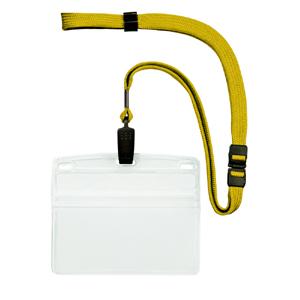 【まとめ買い10個セット品】吊り下げ名札 クリップ式 10枚入 NL-21-YE 黄 10枚 オープン