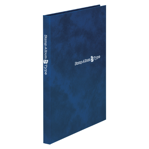 【まとめ買い10個セット品】スタンプアルバムBタイプ A5判タテ型 SB-20N-02 青 1冊 テージー