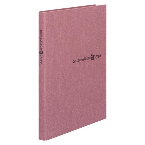 【まとめ買い10個セット品】スタンプアルバムBタイプ B5判タテ型 SB-32N-04 赤 1冊 テージー