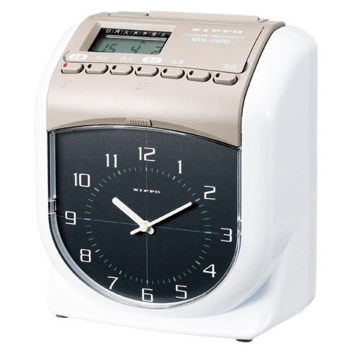 【まとめ買い10個セット品】電子タイムレコーダー NTR-2800 スノーホワイト&ウォームグレー 1台 NIPPO