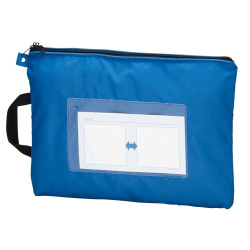 【まとめ買い10個セット品】メールバッグ B4短辺取っ手付 CR-ME05-BL ブルー 1個 クラウン【 ファイル ケース ケース バッグ メールバッグ 】