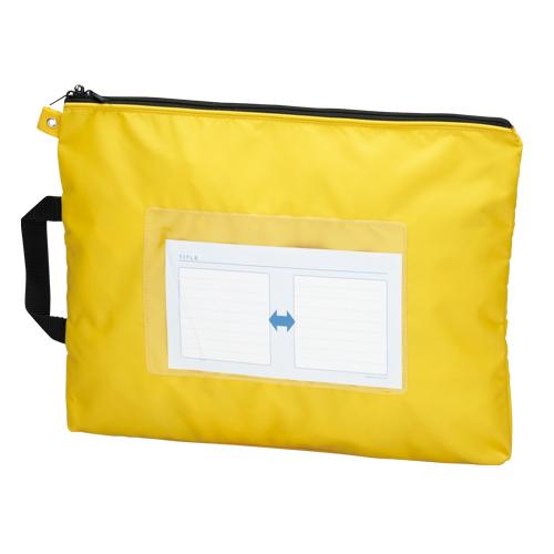 【まとめ買い10個セット品】メールバッグ B4短辺取っ手付 CR-ME05-Y イエロー 1個 クラウン【 ファイル ケース ケース バッグ メールバッグ 】