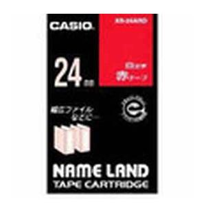 【まとめ買い10個セット品】 ネームランド用テープカートリッジ  白文字テープ 8m XR-24ARD 赤 白文字