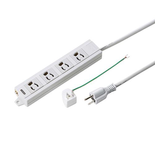 【まとめ買い10個セット品】電源タップ TAP-MG341N2-3 1個 サンワサプライ
