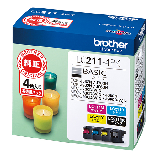 【まとめ買い10個セット品】 インクジェットカートリッジ  LC211-4PK 4色パック