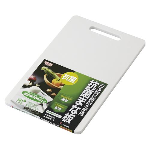 【まとめ買い10個セット品】HOME&HOME 抗菌まな板 GITA002 ホワイト 1枚 リス