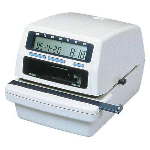 【まとめ買い10個セット品】電子タイムスタンプ NS-5000 1台 アマノ 【メーカー直送/代金引換決済不可】【 オフィス機器 チェックライター 印字用品 タイムスタンプ 】