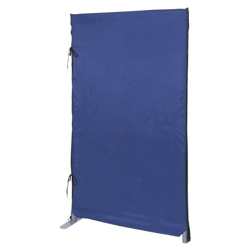 【まとめ買い10個セット品】 防災用プライバシースクリーン 高1200mm(安定脚1個付き) YSO-W710BL ブルー