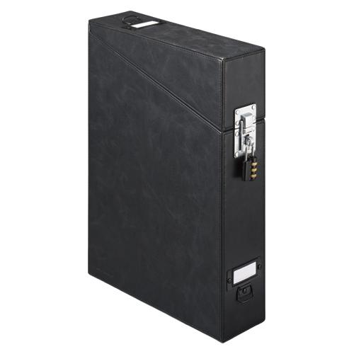 【まとめ買い10個セット品】マイナンバー用セキュリティドキュメントケース A4判タテ型(収納幅57mm) 4700MN 黒 1個 キングジム