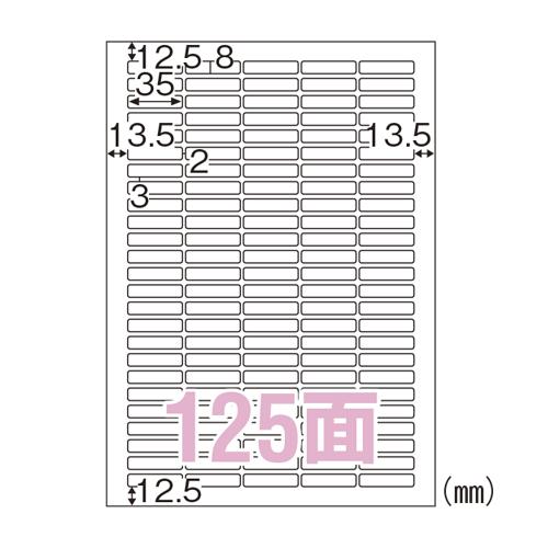【まとめ買い10個セット品】 ラベルシール A4判 100枚入り エコノミーラベル ELM036