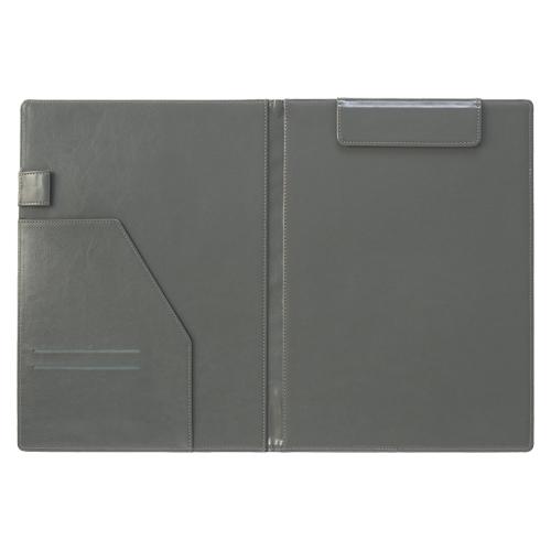 【まとめ買い10個セット品】 ベルポスト クリップファイル A4判タテ型(二つ折りタイプ) BP-5724-60 ブラック