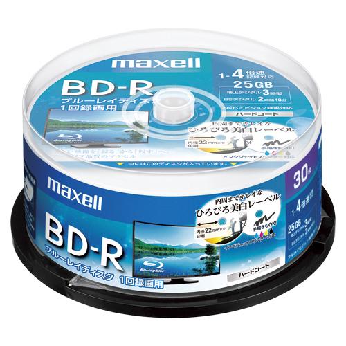 【まとめ買い10個セット品】録画用 BD-R テレビ録画用1回録画タイプ 1-4倍速対応 BRV25WPE.30SP 30枚 maxell