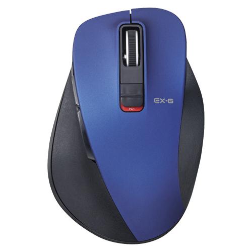 【まとめ買い10個セット品】 5ボタンワイヤレス Bluetooth3.0 BlueLEDマウス 握りの極み M-XGM10BBBU ブルー