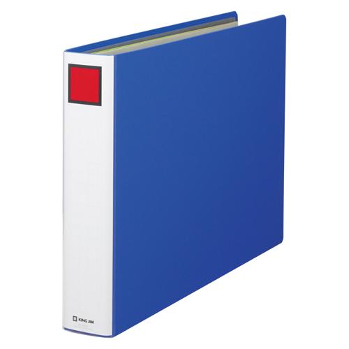 【まとめ買い10個セット品】キングファイル スーパードッチ ヨコ型・両開き 1506E 青 1冊 キングジム【 ファイル ケース パンチ式ファイル パイプ式ファイル 】