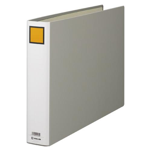 【まとめ買い10個セット品】キングファイル G ヨコ型・片開き 1005EN グレー 1冊 キングジム【 ファイル ケース パンチ式ファイル パイプ式ファイル 】