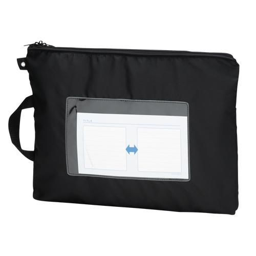 【まとめ買い10個セット品】 メールバッグ B4短辺取っ手付 CR-ME05-B ブラック