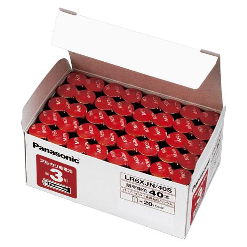 【まとめ買い10個セット品】 アルカリ乾電池 パナソニックアルカリ(金) オフィス電池 LR6XJN/40S