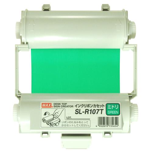 【まとめ買い10個セット品】ビーポップ消耗品 SL-R107T 緑 1巻 マックス【 オフィス機器 ラベルライター ビーポップシート 】