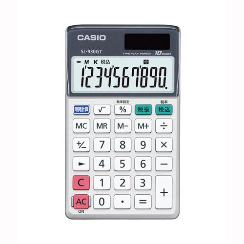 【まとめ買い10個セット品】電卓 SL-930GT-N 1台 カシオ【 オフィス機器 電卓 電子辞書 電卓 】