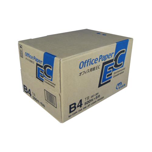 【まとめ買い10個セット品】日本製紙 オフィス用紙 オフィスEC B4 500枚×5冊 日本製紙【 PC関連用品 OA用紙 コピー用紙 】