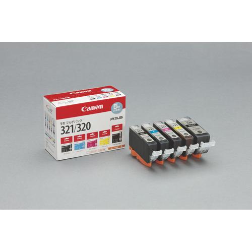 【まとめ買い10個セット品】インクジェットカートリッジ BCI-321+320/5MP 1セット キヤノン