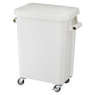 【まとめ買い10個セット品】リス 厨房用キャスターペール・排水栓付 45L GGYK001