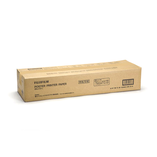 ポスタープリンター4000/4000W/5000W用 用紙  熱転白地青発色A1幅 白/青