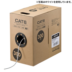 サンワサプライ CAT6UTP単線ケーブルのみ 300m KB-C6L-CB300BL ブルー