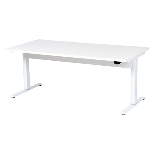 オフィスデスク(昇降タイプ) 昇降テーブル(幅1800mm) LTC-L1890(WH) ホワイト/ホワイト