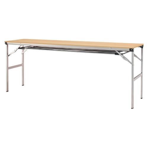 折りたたみテーブル 棚付き LOT-1845ET-NA ナチュラル