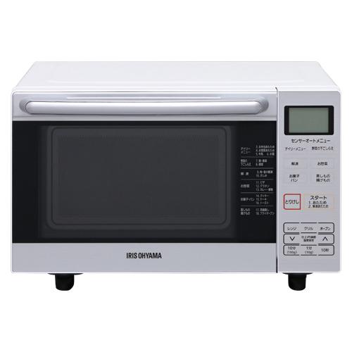 アイリスオーヤマ オーブンレンジ 18L フラットテーブル MO-F1801 ホワイト