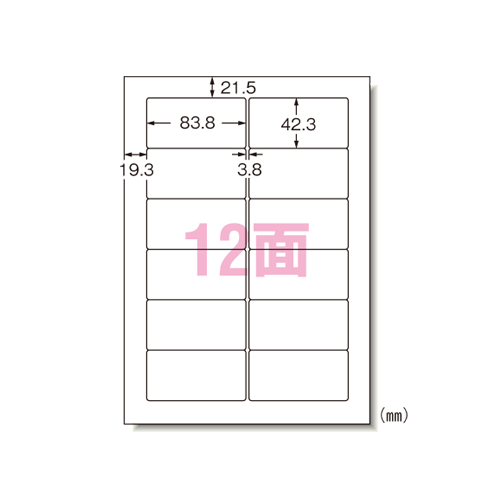 パソコンプリンタ&ワープロラベルシール(プリンタ兼用) マット紙(A4判) 1000枚入 31155