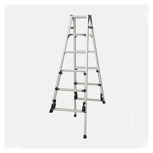 ピカコーポレイション 四脚アジャスタ式はしご兼用脚立 上部操作タイプ SCN-180A
