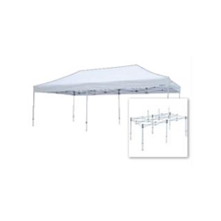 テント複合タイプ:支柱(スチール)・桁フレーム(アルミ)白粉体塗装 K 直送品 別発送品