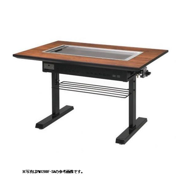 お好み焼きテーブル 9mm鉄板 4人掛 スチール脚洋卓 1550×800×700 【 メーカー直送/代引不可 】