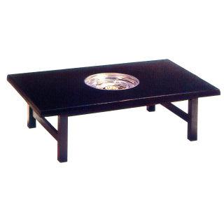 ガス式鍋物テーブル テーブル型 共張 1口コンロタイプ  都市ガス(12A·13A) 【 業務用 】