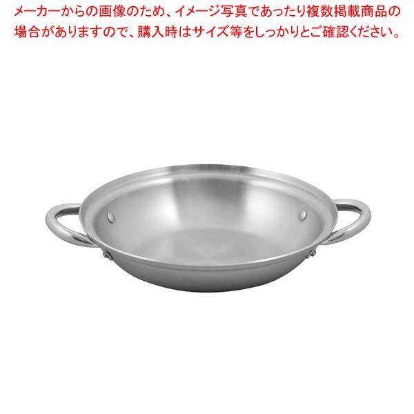 【まとめ買い10個セット品】 SUS443 電磁ちり鍋 28cm