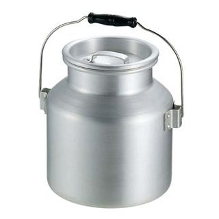 アルミ スープ運搬缶 中(φ240×H250)9L【 運搬・ケータリング 】