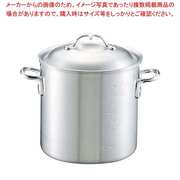 【まとめ買い10個セット品】 ニューキング アルミ 寸胴鍋(目盛付)33cm【 ガス専用鍋 】